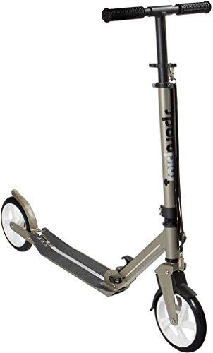 SPORTPLUS EZY! Urban-Scooter, patentierte Vollfederung, extra große Räder Ø 200mm, bis 100 kg Benutzergewicht, EN 14619 geprüft