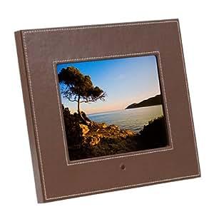 8.4' LCD-Multimediarahmen in braunem Leder-Look - Foto, Video & Audio - digitaler Bilderrahmen, Fotorahmen, Photo Display (4:3)
