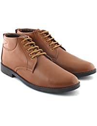 Albertiano Contender Men Formal Wear Boot (Tan Color)