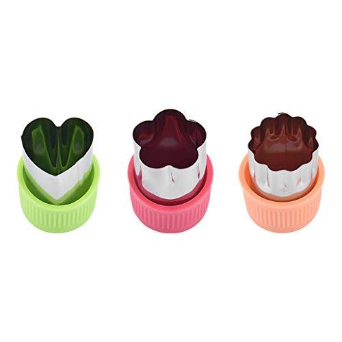 Webla - 3 UNIDs Größe Mehrere Stern-Frucht-Form, Fondant-Kuchen-Plätzchen-Plunger-Form-Form, Werkzeuge Lebensmittel Cutter, Tier-Blumen-Stern-Herz-Form