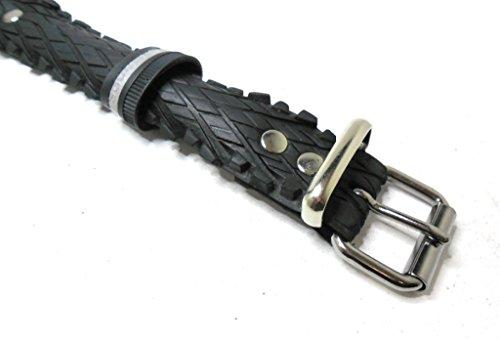 Handmade Hundehalsband aus Fahrradreifen (upcycling). Halsumfang von 42cm - 50cm. Robust ! - 4