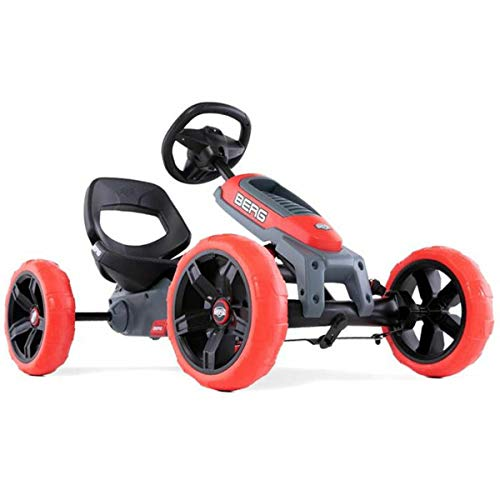 Berg Gokart Reppy Rebel grau/rot inkl. Soundbox