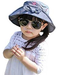 Smile YKK bebé flores lazo fuera fisheman cubo sombrero de sol