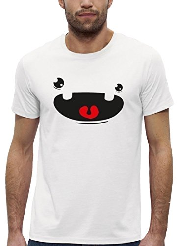 Lustiges Premium Herren T-Shirt aus Bio Baumwolle mit Cute Monster Premium Stanley Stella White