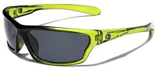 Nitrogen Polarisiert Verpackung um Sport-Sonnenbrille - Lime 1 69 eine Größe passt meistens Green | Rauch