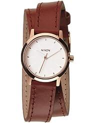 Nixon Damen-Armbanduhr XS Analog Quarz Leder A4031233-00