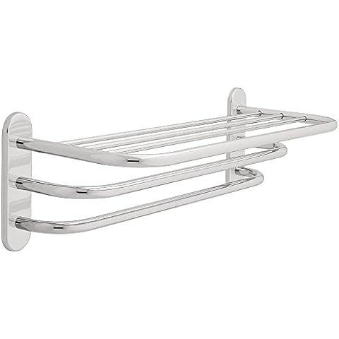 Franklin latón 2789PC, Hardware de baño accesorio, 60,96 cm estante TOALLERO dos barras