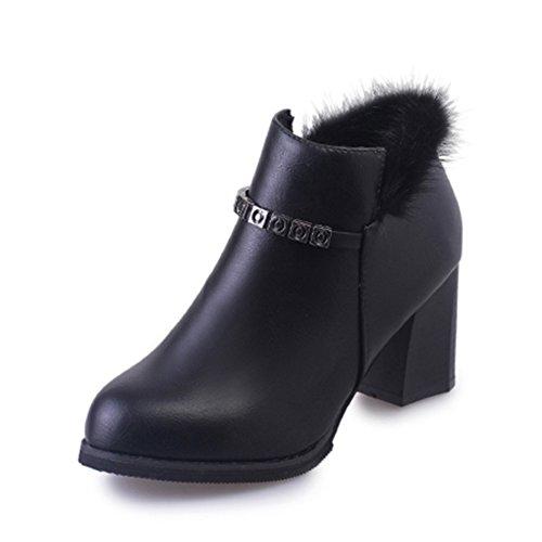 Autunno Martin stivali/The wild wind di scarpe da donna di Inghilterra/ spessa scarpa con lo studente-A Longitud del pie=22.3CM(8.8Inch)