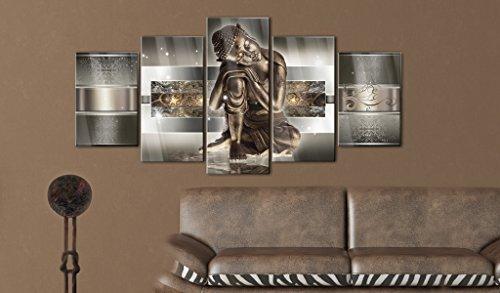 murando Cuadro de cristal acrílico 200x100 cm 5 Partes - 2 tamanos opcionales - Cuadro de acrílico TOP Cuadro - Impresion en calidad fotografica – Buda h-C-0034-k-m 200x100 cm 6