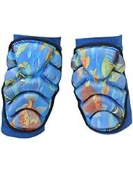 QHGstore Soft rodillera Esquí Snowboard Deportes rodilleras soporte protector azul XS