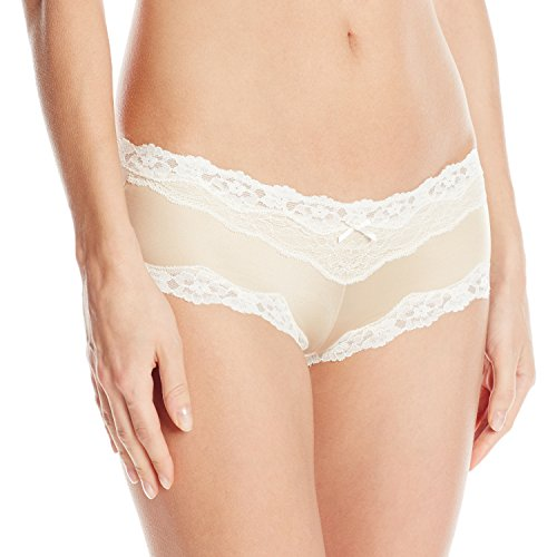 Maidenform® Cheeky Lace Hipster 7 Nude (Low-rise Hipster Cheeky)