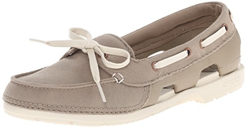 Crocs Damen Beach Line Boat Shoe Mix W, Kaki, 36 EU