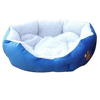 Ardisle Warm Soft Fleece Puppy Pets Dog Cat Bed House Basket Nest Mat (Blue) 13