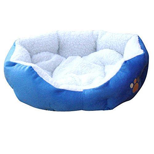 Ardisle Warm Soft Fleece Welpen Haustier Hund Katze Bett Haus Korb Nest Mat Wasserdicht (blau) -