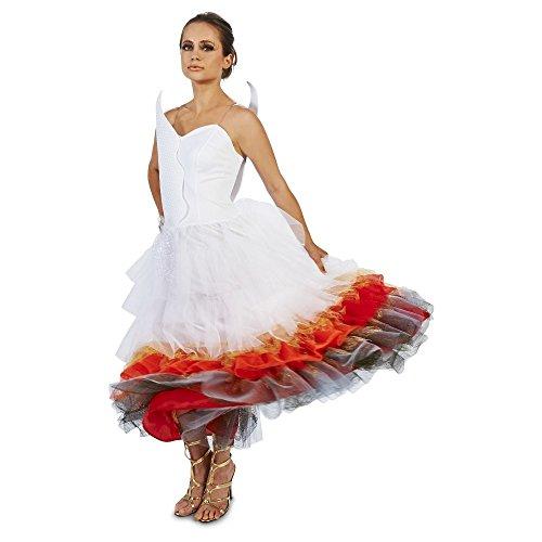 e Costume Damen Fasching Halloween Karneval Kostüm Kleid (Small) ()