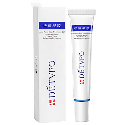 PENGYOU Aloe Vera Essence Crema Anti Acné Quitar Manchas Crema de Espinillas Calmante y Reparador Producto para la Piel
