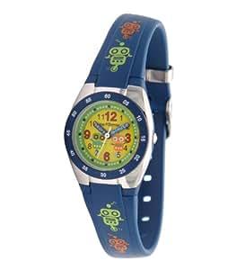 Performer - 7103222 - Montre Enfant - Quartz Pédagogique - Cadran Multicolore - Bracelet Plastique Bleu