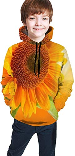 Jugend Kapuzenpullover Jungen Mädchen 3D Yellow Daisies Flowers at Sunset Pullover Hoodies Hooded Sweatshirts Tops Blouse with Pocket -
