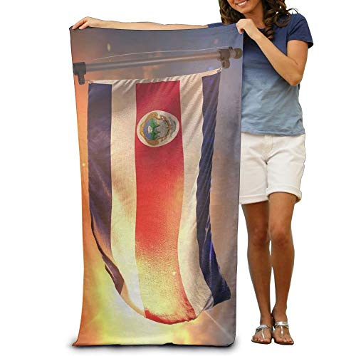 Gebrb Duschtücher/Badetücher,Strandtücher, Costa Rica Flag Sunrise Luxury Polyester Camping Bath Sheets Large Towel for Beach Blanket Cover Tent Floor Yoga Mat 31.5