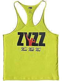 Musclealive Hombres culturismo zyzz tanque de la manera tapas del algodón elástico
