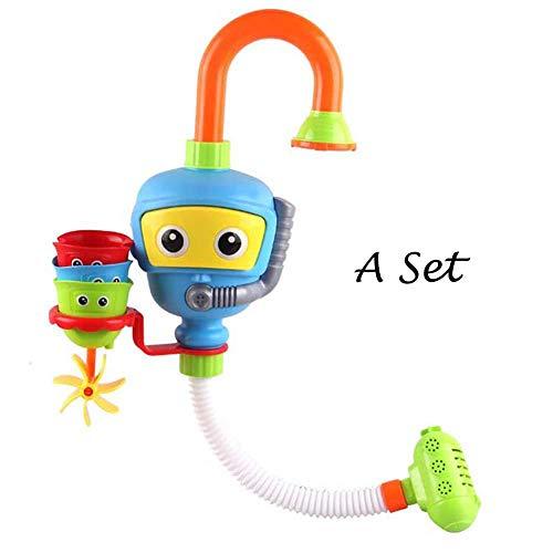 JZTRADING Dusche Spray Spielzeug Kinder Bad Spielzeuge Taucher Spray Babyspielzeug Plastik ungiftiges Baby Dusche Wasser Spray Bad Spielzeug (EIN Satz, zufällige Farbe)