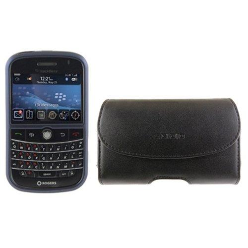 Seidio Blackberry (Seidio Innocase Schutzhülle für BlackBerry Bold 9000 (horizontal, Leder) Saphirblau/Schwarz)