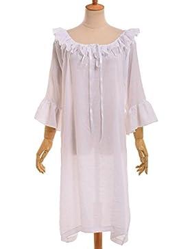 GRACEART Medieval Camisa de Señora Disfraz Renacimiento Vestir