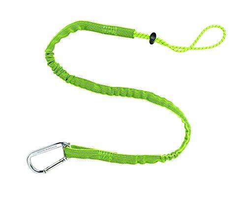 Ergodyne Squids 3100 Sicherungsband für Werkzeuge, Standardlänge, Einzelkarabiner, Grün