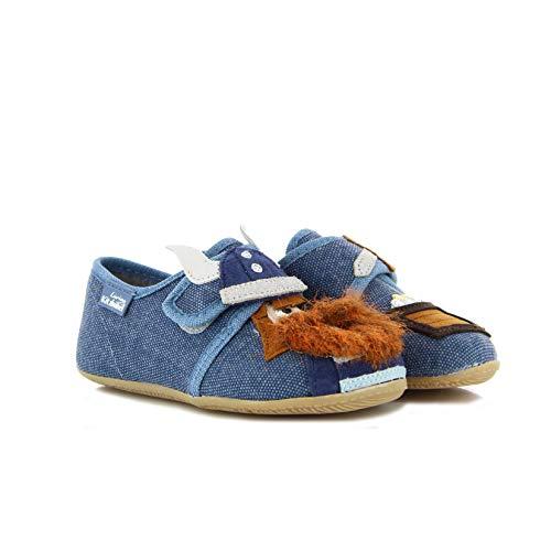 Living Kitzbühel Jungen Klettmodell Wikinger Hausschuhe, Blau (Media Blue), 23 EU