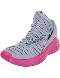 separation shoes 3d27b ab989 Jordan Enfants Flight Luxe (GG) Gris Loup Deadly Rose Taille 6.5