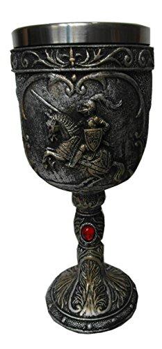 Mittelalter Weinkelch Ritter auf Pferd von Einkaufszauber