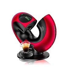 DeLonghi - Macchina da caffè Nescafé Dolce Gusto Eclipse EDG 737, B (1500 W, spazzolata) Macchina per il caffè Rot Metal