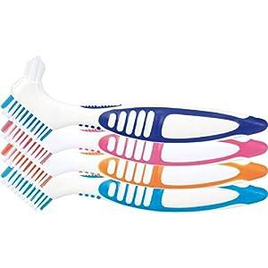 wellsamed Prothesenzahnbürste, Prothesenbürste für die Dritten Zähne, Zahnersatz Reinigung, Zahnersatzbürste, Prothesenreinigung, 1 St