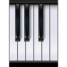 Cuadro sobre lienzo 70 x 100 cm: Piano Keyboard de Rob Snow | Graphic - cuadro terminado, cuadro sobre bastidor, lámina terminada sobre lienzo auténtico, impresión en lienzo