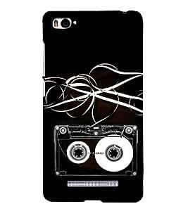 Music Cassette 3D Hard Polycarbonate Designer Back Case Cover for Xiaomi Mi 4i :: Xiaomi Redmi Mi 4i