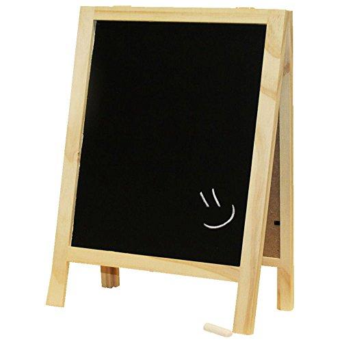 PROHEIM Kreidetafel L zum Stellen 32cm hoch Diagonale 29 cm / 11,4 Zoll beidseitig beschreibbare Schreibtafel aus FSC Holz inklusive Kreide - SPARSETS -