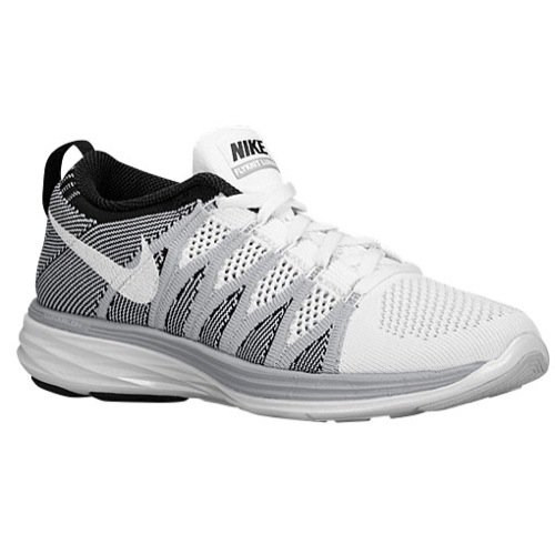 Nike Damen Flyknit Lunar2, damen, white wolf grey black 100, 4 UK / 37.5 EU / 6.5 US (Nike-4 V3)