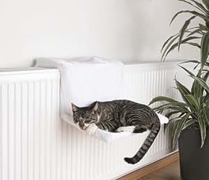 Trixie Lit Radiateur Peluche Blanc 45 × 24 × 31 cm pour Chat