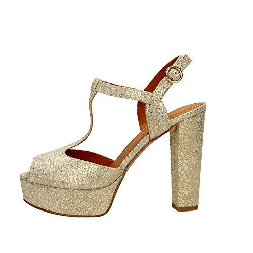 What For 084 Sandali Donna Pelle Oro Oro 41