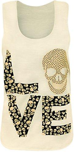 Sugerdiva Damen Blusen Kleid YELOW LUV Skull