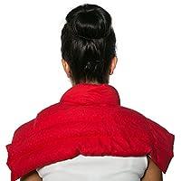 Kirschkernkissen Schulter & Nackenkissen mit Kragen | Bio-Stoff rot | Gute Wärme für den Nacken | Eine Alternative... preisvergleich bei billige-tabletten.eu