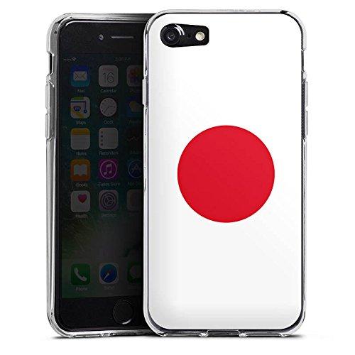 Apple iPhone X Silikon Hülle Case Schutzhülle Japan Flagge Fußball Silikon Case transparent