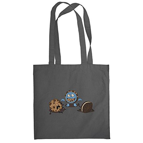 Texlab–Mostro Prank Cookie–sacchetto di stoffa Grau