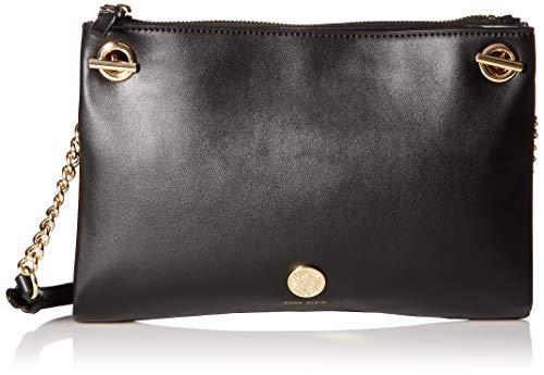 Anne Klein Damen Chain Toggle Crossbody Bag Kette, Umschalter, Folio, Umhängetasche, schwarz, Einheitsgröße