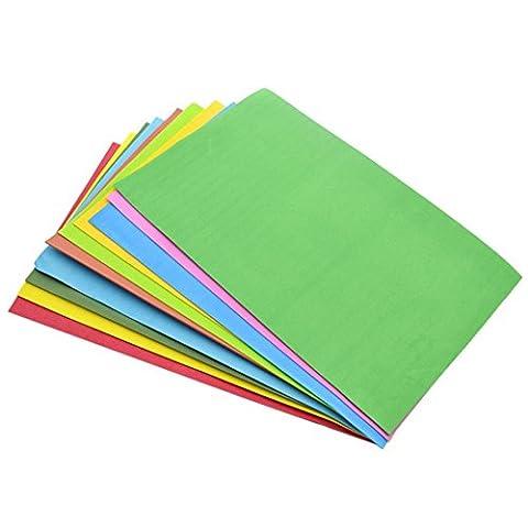 beautybouse Mehrfarbig quadratisch doppelseitig Origami Schwamm EVA-Schaum Papier Blatt Kinder handgefertigt DIY (Papier Bag System)
