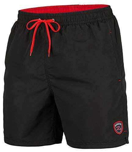 Schwarz Mesh Shorts (Zagano Adam Lipski Herren Badeshort, 5106, Long Version Black, Gr. XL)