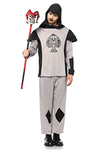 Leg Avenue 85600 2 PC. 2 teilig Card Guard Hemd, Männer Karneval Kostüm Fasching, S/M, schwarz Leg Avenue Garden