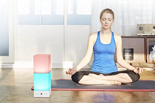 Yoga de proyección–Meditación | onia Table–Luz de ambiente con control de color y fototerapia–Integrada en la lámpara o mediante smartphone.–Tamaño: 14x 38x 14cm–Regular Precio 299, de & # x20ac;..... en nosotros solo socket de 149, & # x20ac; (Blanco)