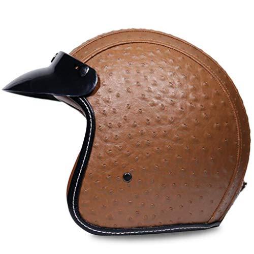 lm Harley Half Helm Männliche Und Weibliche Persönlichkeit Pedal Auto Auto Helm Vier Jahreszeiten (Color : J, Size : S) ()