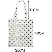 Huyizhi Outdoor Storage Female Canvas Black Dot Shoulder High Capacity Bag  File Shopping Travel Handbag ( 81c88cc297